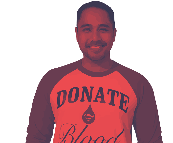Meet Dustin. Dad. Muscle car enthusiast. Blood donor.